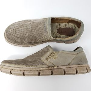 Born Slip On Loafers 9/42 Perforated Suede